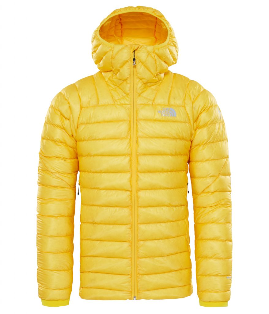 Down Hoodie The North Face Summit L3 coated with durable water repellent (DWR) finish for added water repellency