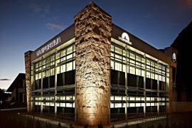 La sede di La Sportiva in Val di Fiemme, azienda leader mondiale nel settore delle calzature ed abbigliamento outdoor