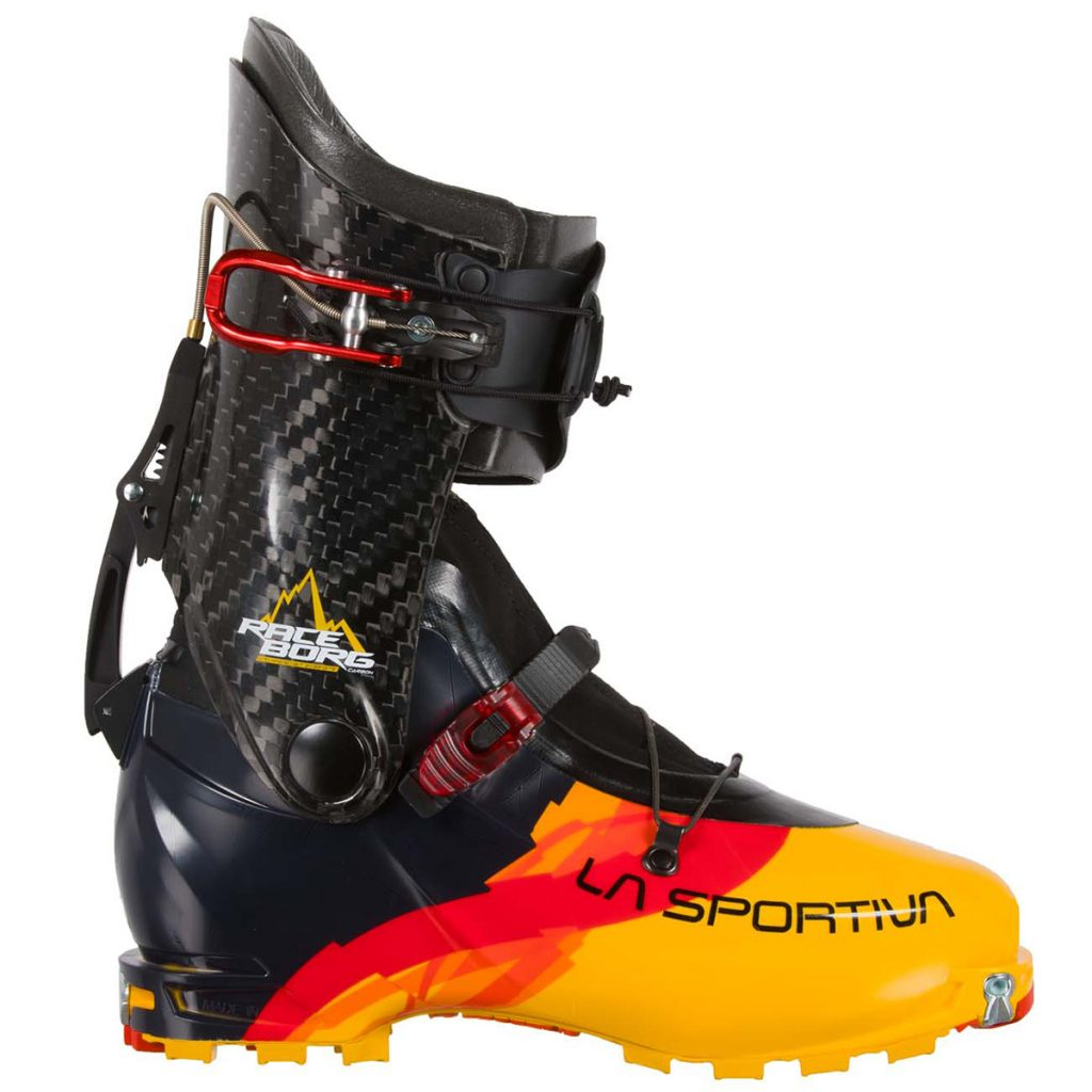 Ski mountaineering boots Raceborg La Sportiva designed for international ski mountaineering competitions.