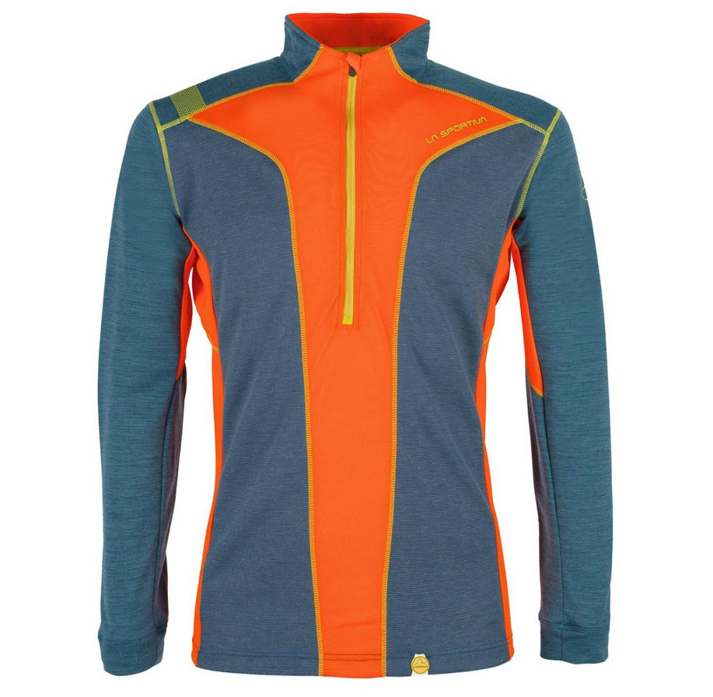 Technical merino wool base layer Ionosphere Long Sleeve M by La Sportiva, the ideal choice for use in the mountains in cold climates.