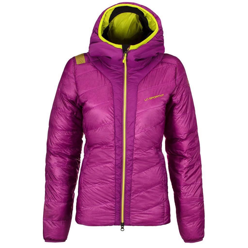 Women Ski touring Down jacket with integrated hood