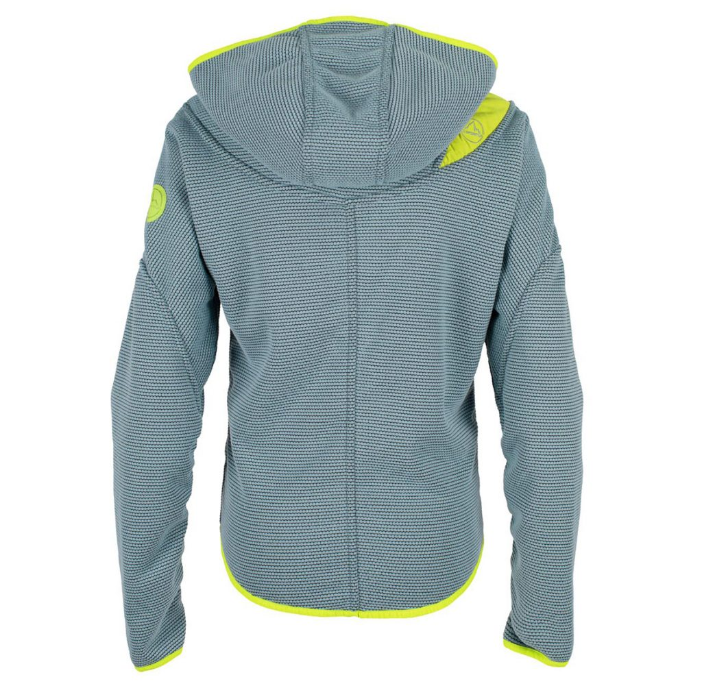 The back of the climbing hoodie Galactica Hoody W by La Sportiva