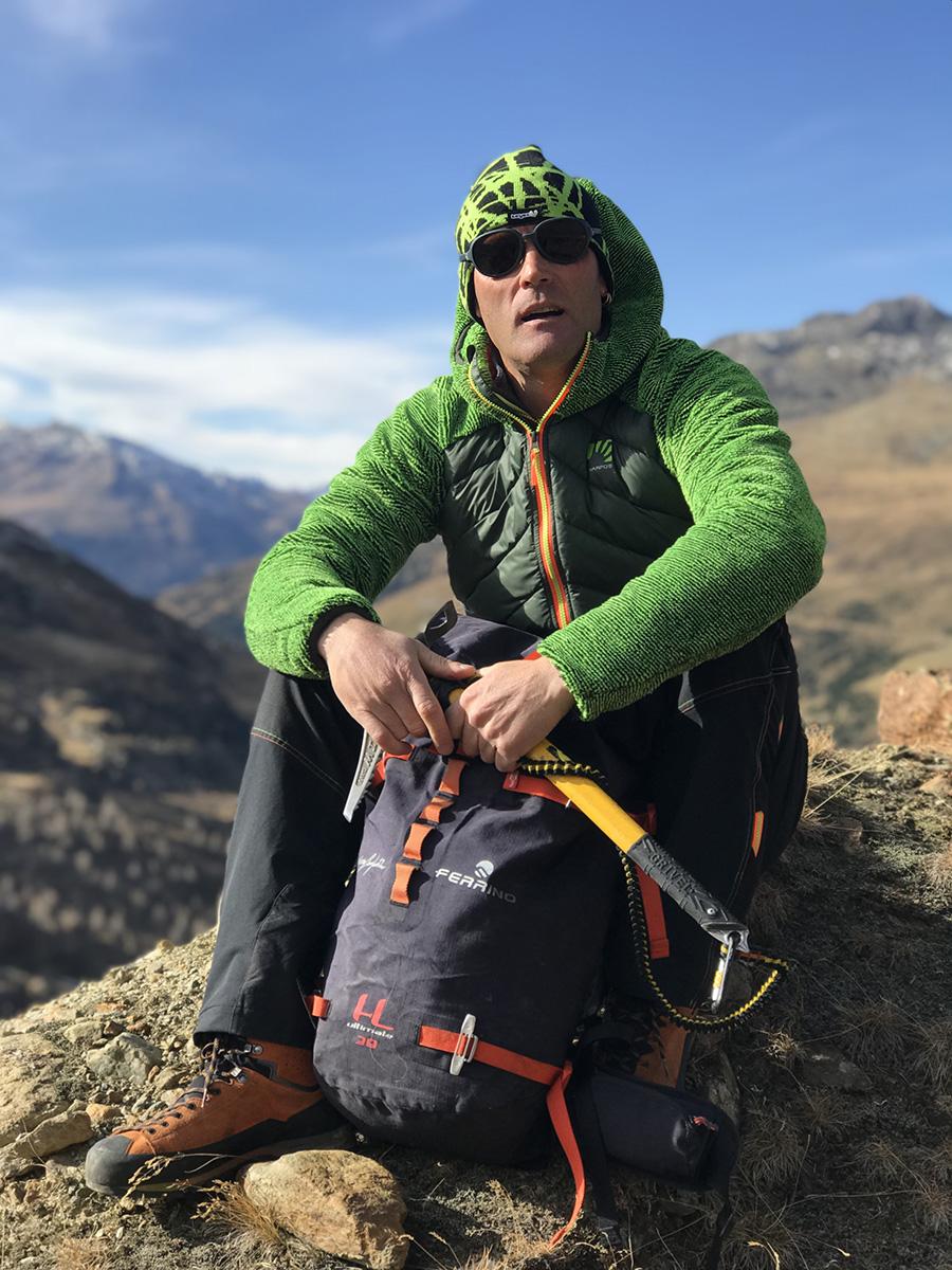 L'alpinista Marco Confortola