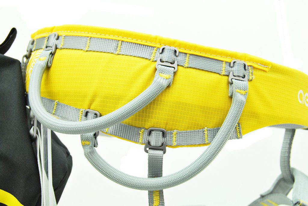 Rock climbing harness Kong Aeron Flex: supplied with 4 short gear loops and one long gear loop.