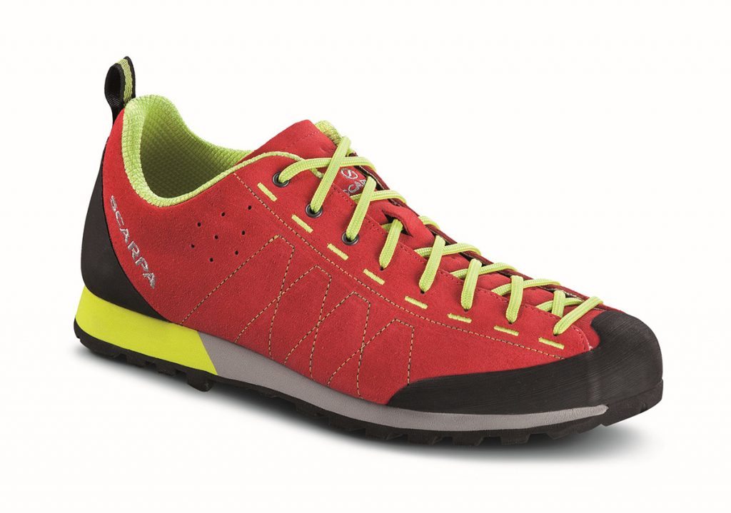SCARPA Highball, casual shoes inspired by climbing and approach shoes.