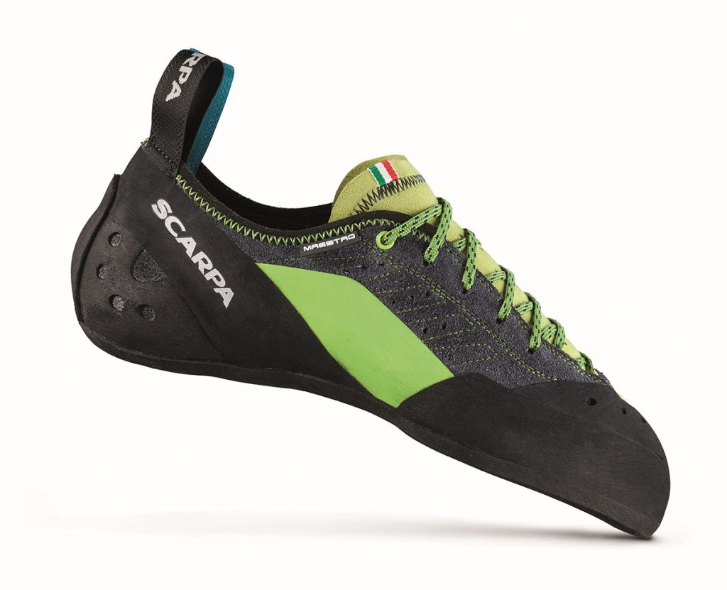 Revolutionary multi pitch climbing shoes Maestro Eco by SCARPA