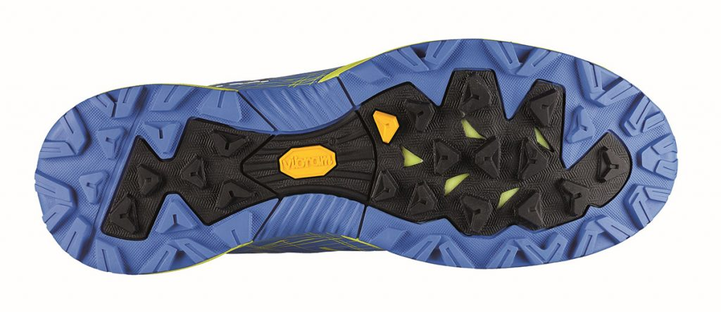 The Vibram sole Megagrip outsole is suitable for any terrain both wet and dry.