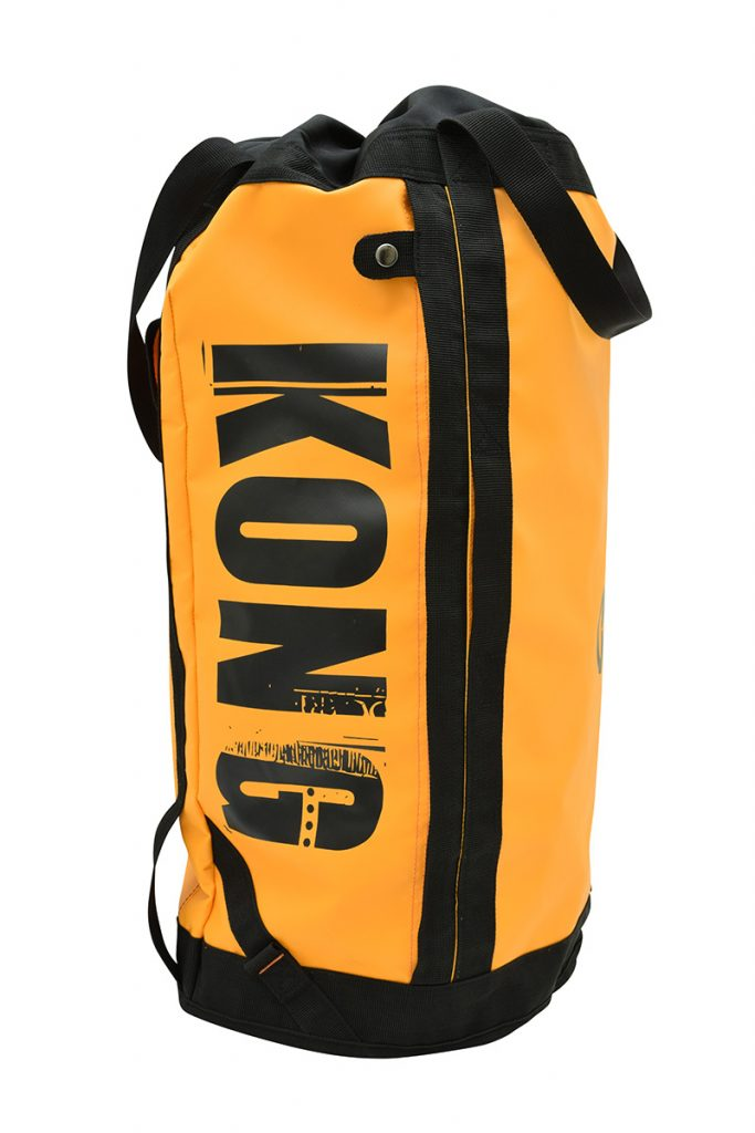 Climbing haul bag Omnibag by Kong, extremely durable, 50 liters capacity expandable to 60L with comfortable padded shoulder straps.