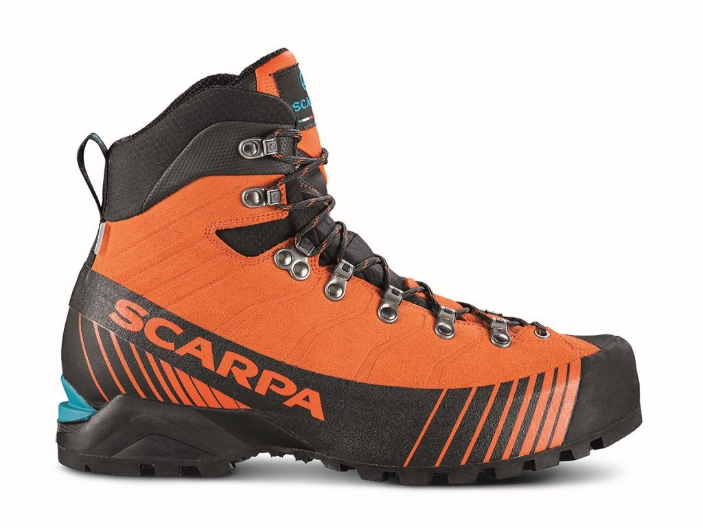 The mountaineering boots Ribelle OD by SCARPA, ideal for alpine style climbing.