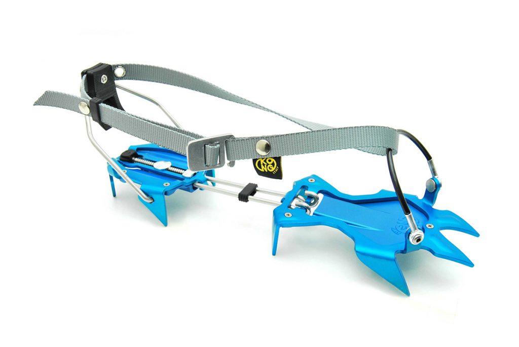Lightweight aluminum ski mountaineering crampons
