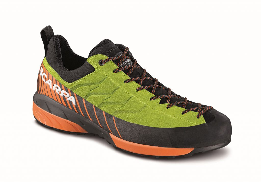 The approach shoes Mescalito are the ideal choice for prolonged use by mountain guides and people who work in mountain.