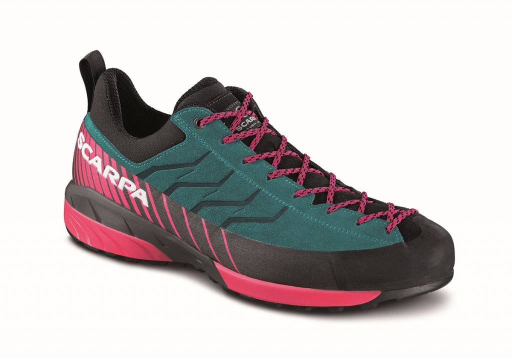Revolutionary womens approach shoes Mescalito WMN: the first approach shoe that uses the new Litebase technology developed by Vibram.