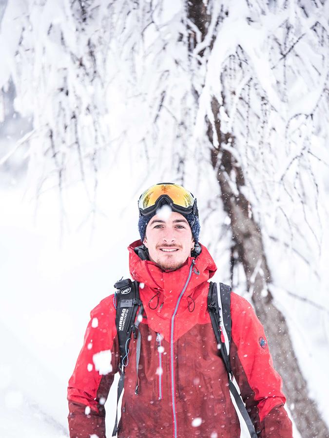 Il maestro di sci della Val di Fiemme Mattia Felicetti