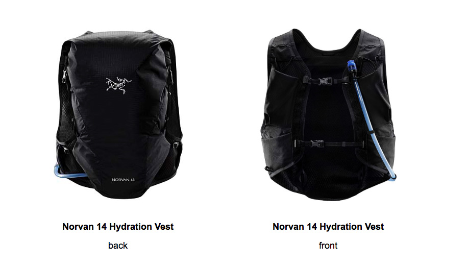 Arc'teryx Norvan Hydration Vest for Self-supported Long Distance mountain running
