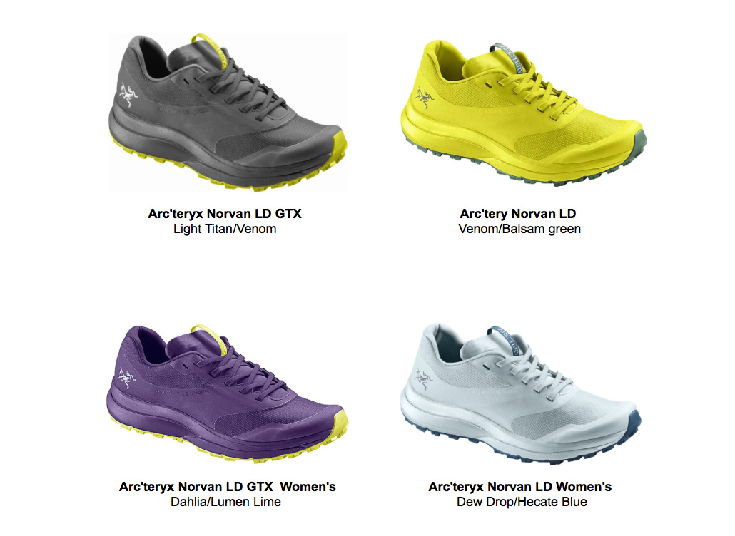 Arc'teryx Norvan LD Shoe for long distance mountain running