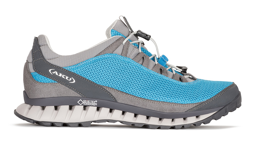 Outdoor shoes Climatica Air GTX by AKU with waterproof Goretex liner, suitable for light outdoor experiences, travel and urban life.