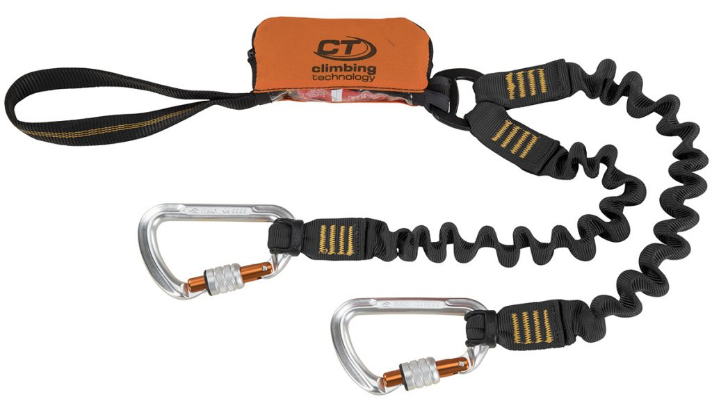 Via ferrata set Classic K-Spring by Climbing Technology with a progressive fabric energy absorber, for use by people weighing between 50 ÷ 100 kg.