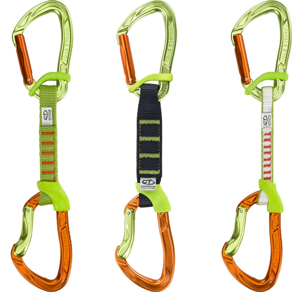 Quickdraws Nimble Fixbar set ergonomic and robust by Climbing Technology