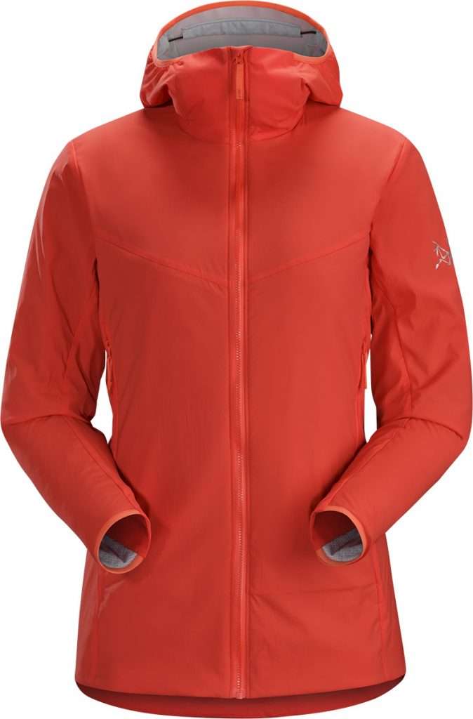 Womens Ryze Hoody di Arc'teryx, una giacca midlayer per alpinismo e arrampicata