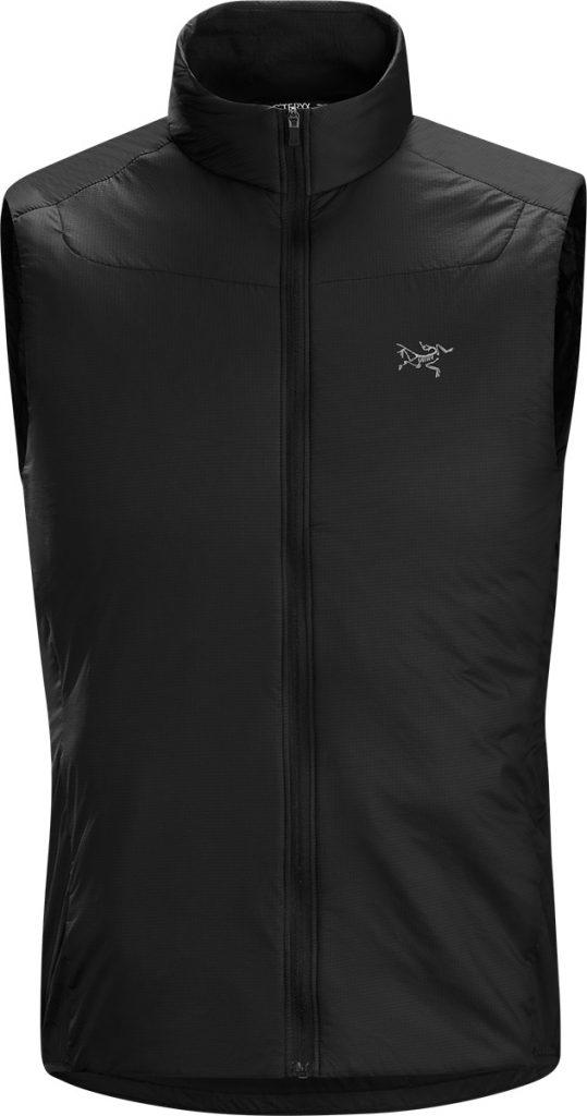 Lightweight running vest Argus SL Vest by Arcteryx, designed to be an insulative layer under a waterproof jacket
