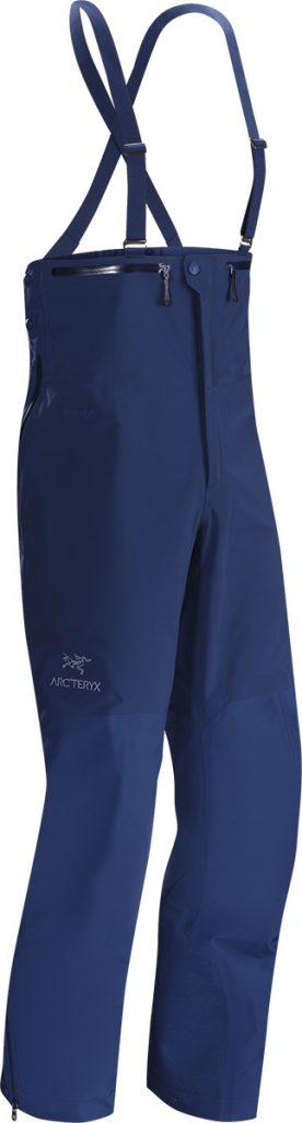 Pantaloni da sci Beta SV Bib di Arcteryx in Goretex, ideale per lo sci alpinismo e il freeride, con ghette antineve e vita elasticizzata