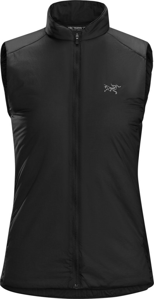 Lightweight running vest Gaea SL Vest for women Arcteryx, provides thermal performance without sacrificing airflow.