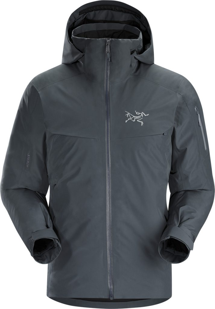 Down jacket for skiing and snowboarding: the Macai Jacket is a luxurious, waterproof and insulated ski jacket designed for cold days on-area skiing and snowboarding.