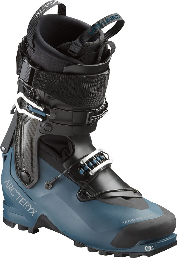 Ski touring boot Procline AR Carbon by Arcteryx for men and women. Lightweight and robust ski mountaineering boot for controlled ascents and descents.