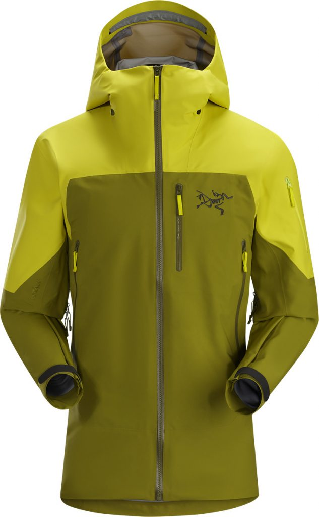 Skiing jacket & snowboard jacket Sabre Lt by Arcteryx: waterproof, windproof and breathable for for big mountain skiing and freeriding.
