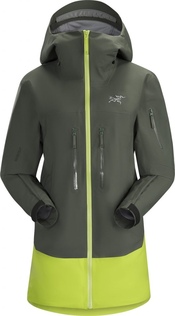 Skiing jacket & snowboard jacket Sentinel Lt Womens by Arcteryx: waterproof, windproof and breathable for for big mountain skiing and freeriding.
