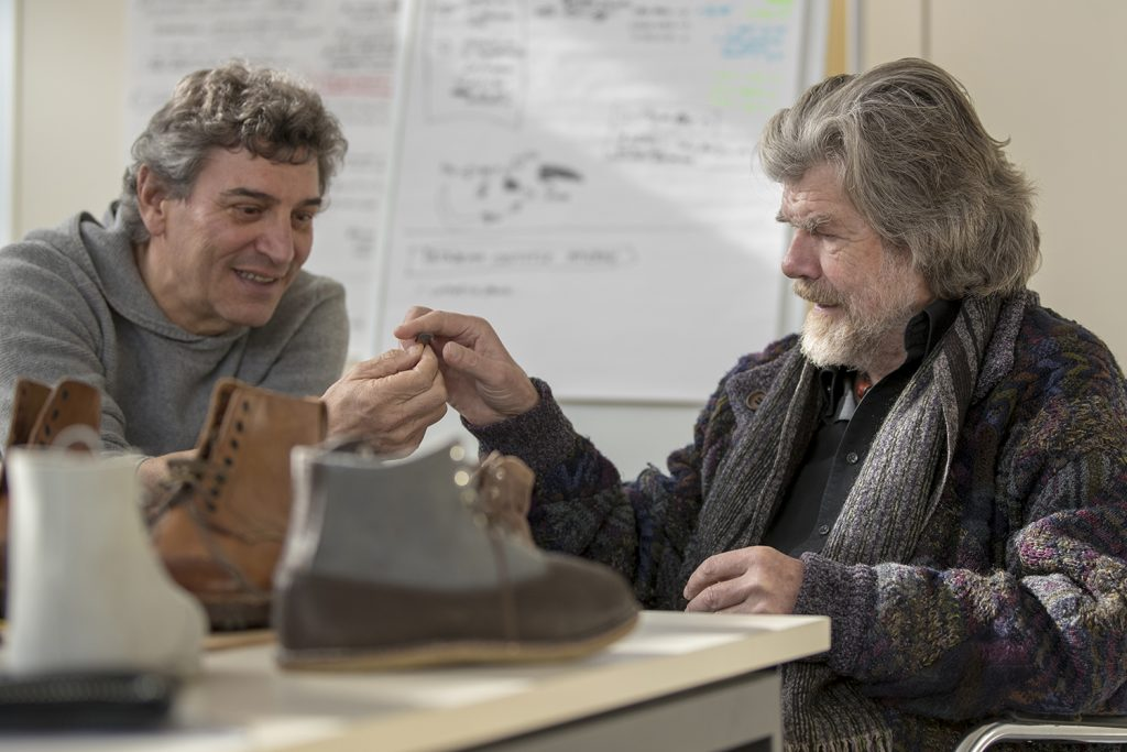 Reinhold Messner in La Sportiva with Lorenzo Delladio (c)Matteo Mocellin/Storyteller-Labs