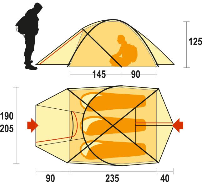 Pilier 3 è la tenda da 3 posti