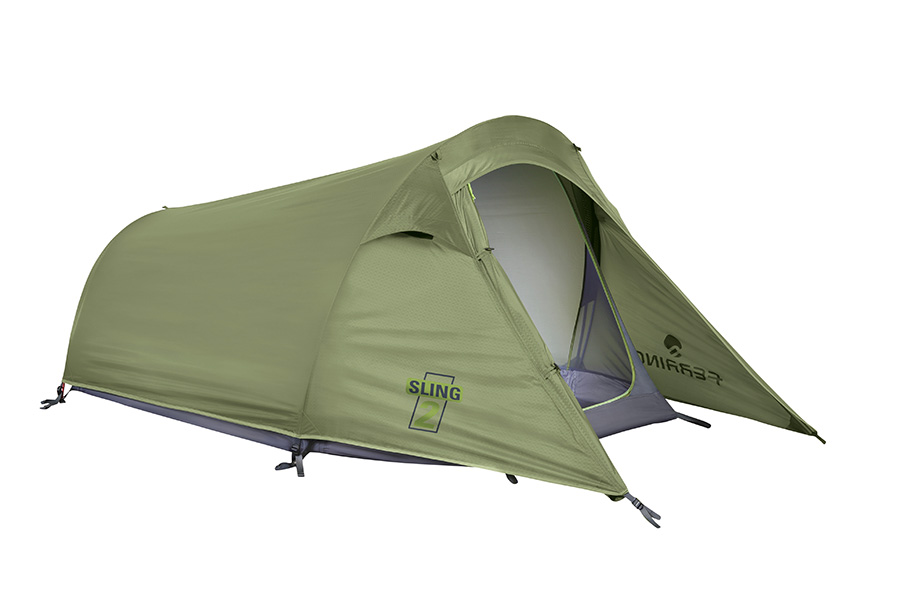 2 Person tent, 3 seasons Sling 2 by Ferrino, ideal for backpacking or trekking and camping in periods with mild weather.