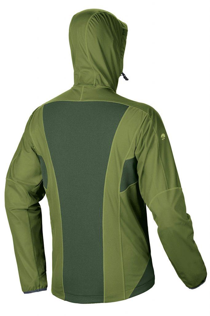 The back of the softshell jacket Hoste Jacket Man