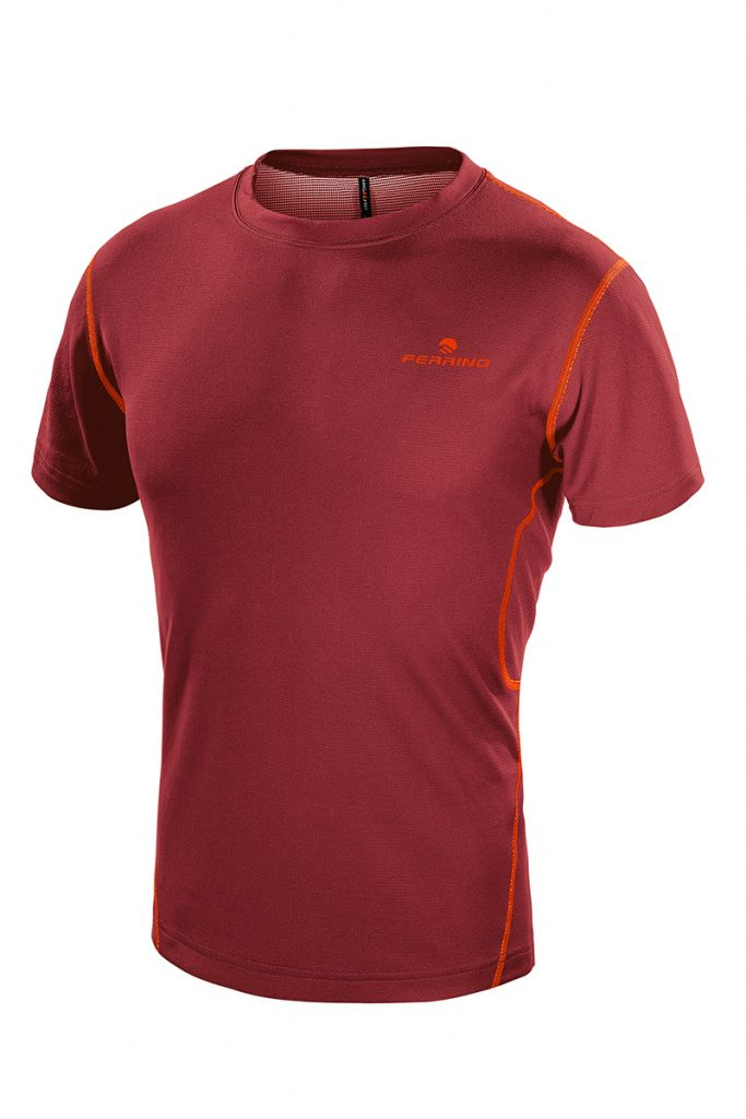 Orange T-shirt Man by Ferrino is a mid-sleeve tee that's idea for any summer activity or sport.