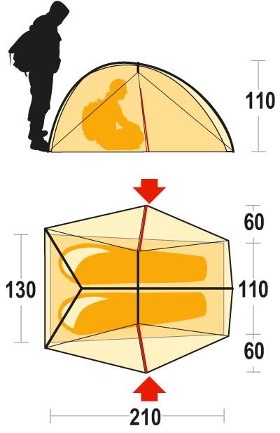 Ferrino Nemesi:  tenda da 2 posti ultraleggera