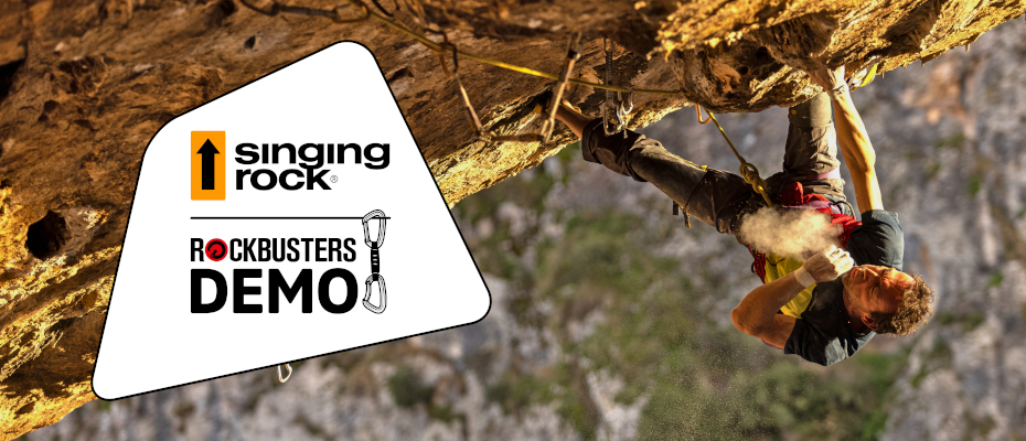 Starting the climbing season 2021, you will be able to demo Singing Rock climbing gear on many of climbing trips and courses of the Rockbusters crew.