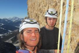 Simon Gietl ripete in invernale la via Zauberlehrling sulla Cima Scotoni