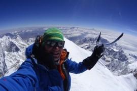 Denis Urubko in vetta al Kangchenjunga