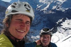 Salewa: nuovo record di squadra sulla parete nord dell'Eiger per Roger Schaeli e Simon Gietl
