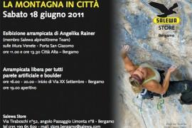 Salewa a Bergamo: Angelika Rainer arrampica le mura venete