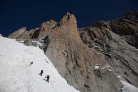 Hervè Barmasse e i fratelli Pou aprono nuova via sulla parete sud del Monte Bianco
