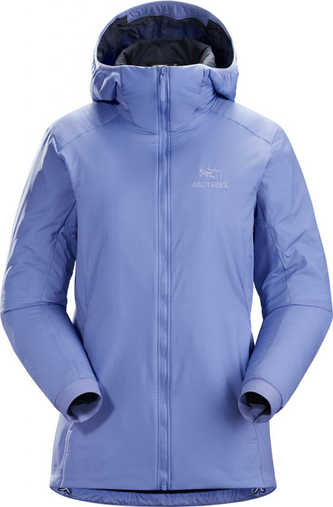 Synthetic Insulated jacket, a mid-layer hoody with wind and moisture resistant outer shell; Ideal as a layering piece for cold weather activities.