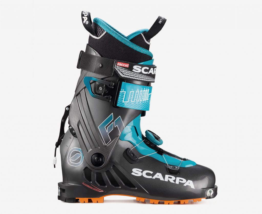 The F1 ski touring boots are the boots for all alpine touring skiers, providing the state of the art in terms of lightness, comfort and performance.