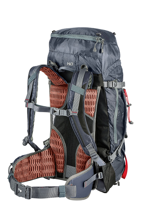 Linear hiking backpack for multi-day walking in the mountains available in a variety of different sizes for both men and women