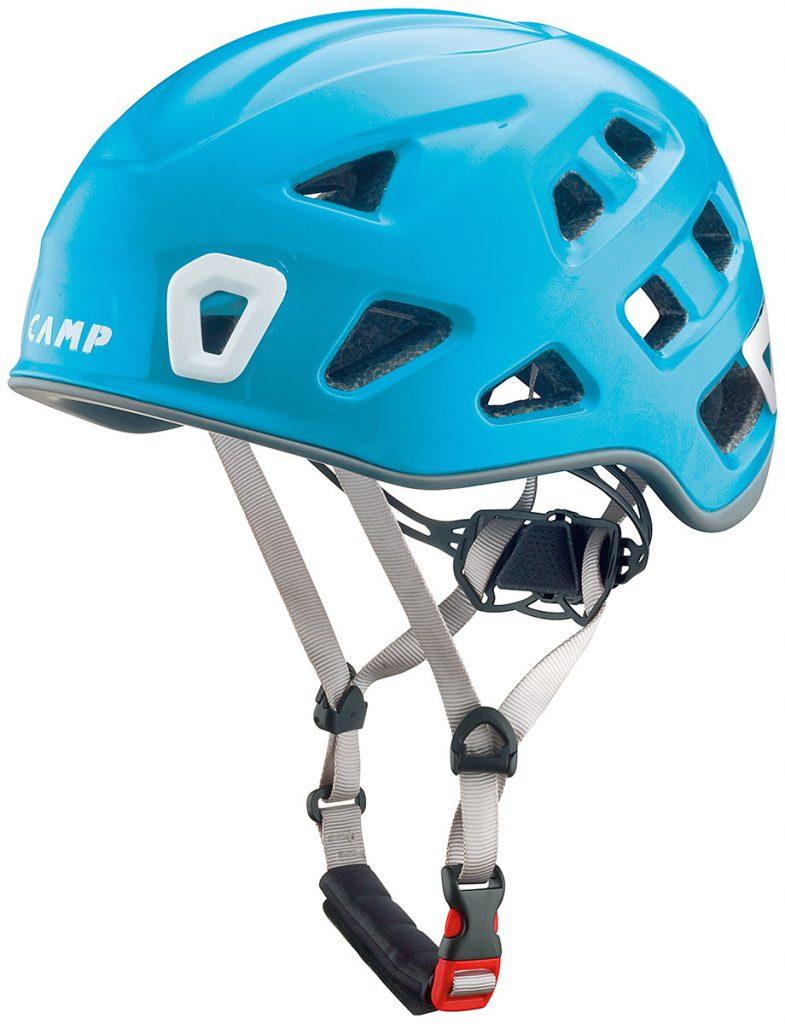Storm casco arrampicata, alpinismo e vie sportive multi-pitch al top di gamma, superleggero ed estremamente confortevole di CAMP.