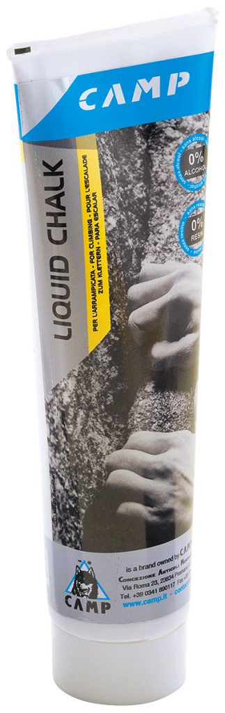 Liquid Chalk for rock climbing, sport climbing, bouldering. Without additives like alcohol or resin that are tough on skin and which polish rock over time.
