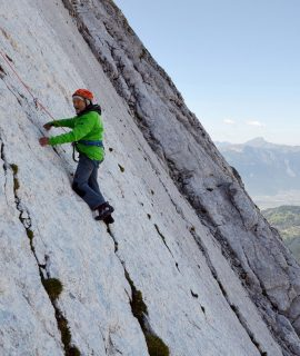 At 94 Marcel Remy, father of the two Swiss climbing legends Yves and Claude Remy, climbs the famous Miroir de l'Argentine in Switzerland.