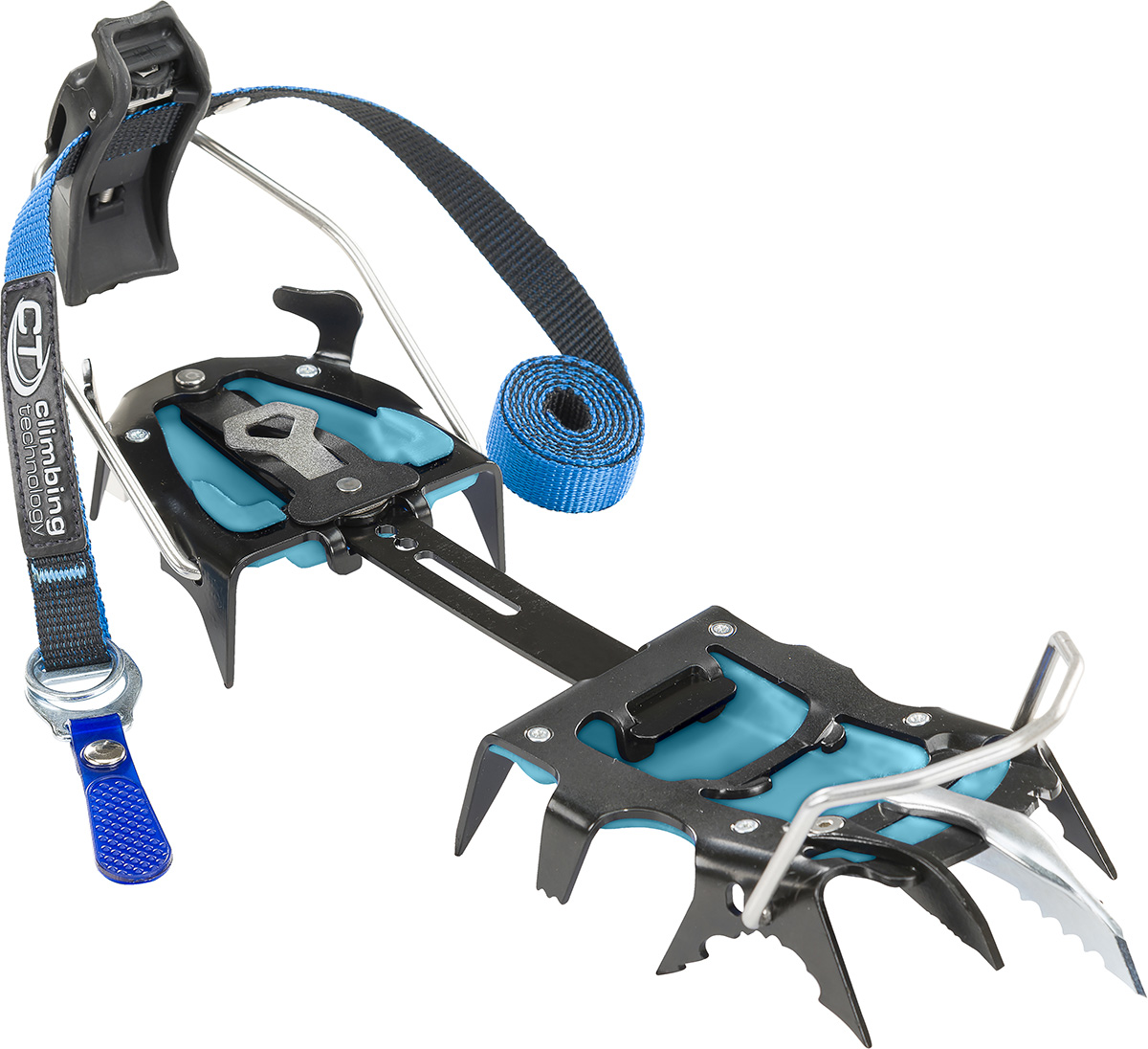 Technical crampon with 13-points for mountaineering Hyper-Spike, with interchangeable front points, for steep technical ice climbing.