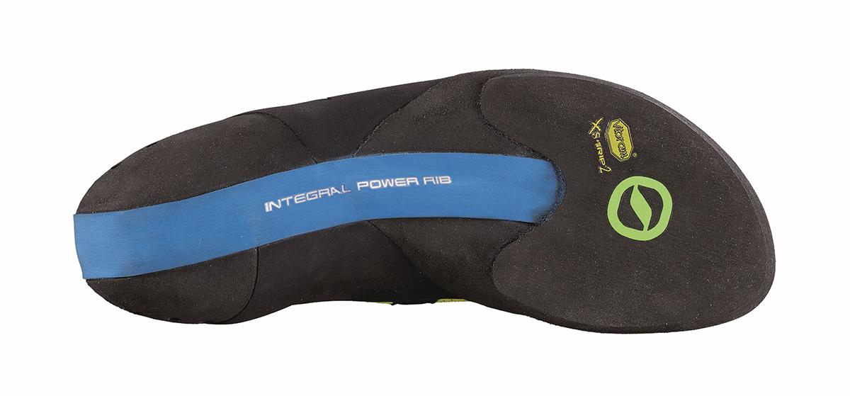 SCARPA Furia S: la gomma Vibram XS Grip2 avvolge il piede dello scalatore, assicurando la massima possibilità di aggancio in ogni direzione.